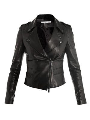 Perfector leather biker-jacket