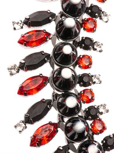 Givenchy Onyx, crystal & mother-of-pearl necklace