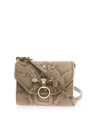 Obsedia python cross-body bag