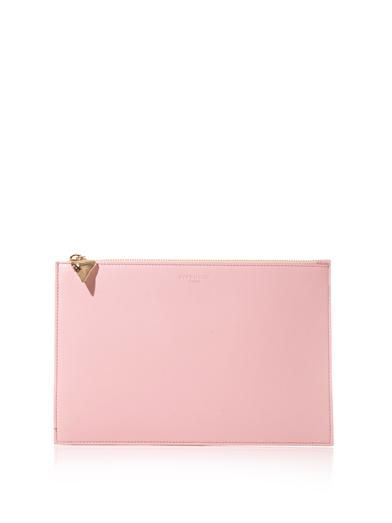 Givenchy Shark's tooth leather pouch