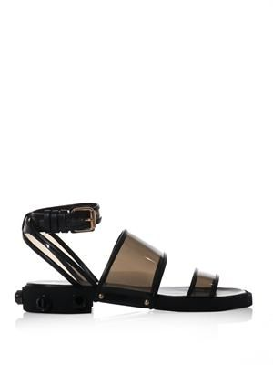 PVC embellished-heel sandals