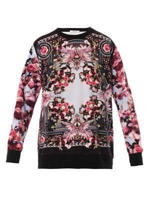 Rose-print sweatshirt