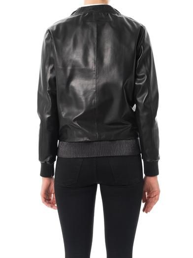 Givenchy Zipped shoulder leather sweatshirt