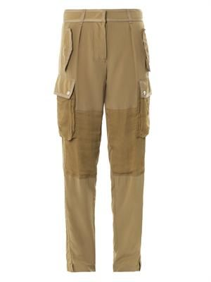 Relaxed-fit silk trousers
