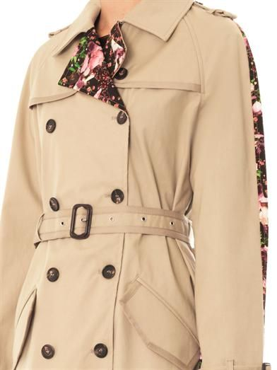 Givenchy Rose Camouflage-print trench coat
