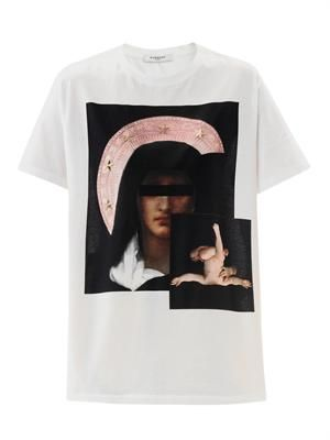 Star-studded pink Madonna T-shirt