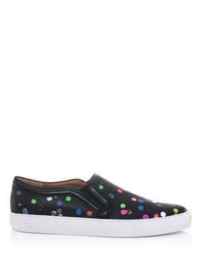 Confetti-print slip-on trainers