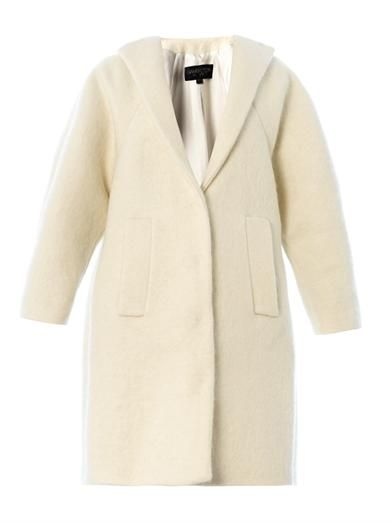 Giambattista Valli Collarless mohair-wool coat