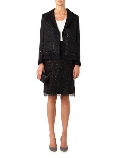 Giambattista Valli Sequined tweed pencil skirt