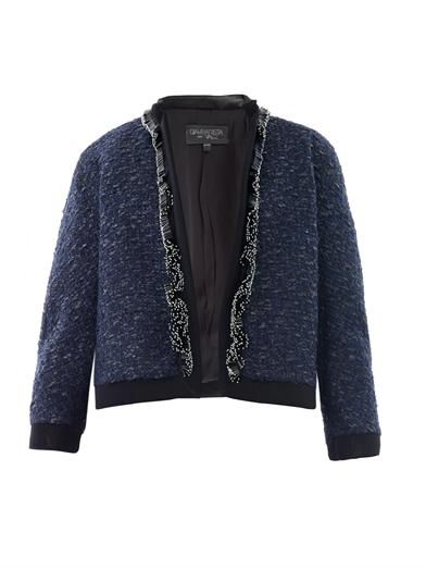 Giambattista Valli Bi-colour embellished tweed jacket