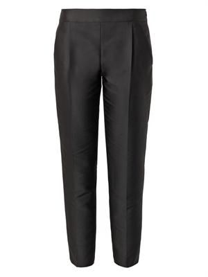 Duchess-satin cropped trousers