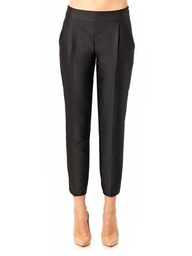 Giambattista Valli Duchess-satin cropped trousers