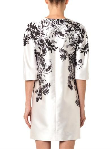 Giambattista Valli Floral-print satin-crepe dress
