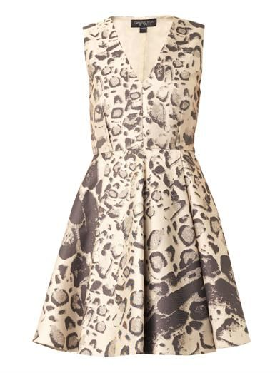 Giambattista Valli Leopard-jacquard dress