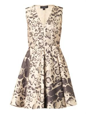 Leopard-jacquard dress