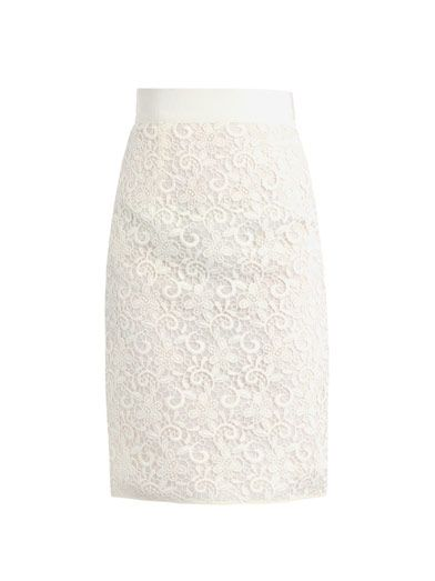 Giambattista Valli Lace pencil skirt