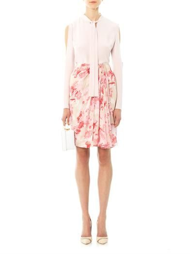 Giambattista Valli Floral silk pencil skirt