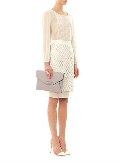 Giambattista Valli Lace-front chiffon blouse