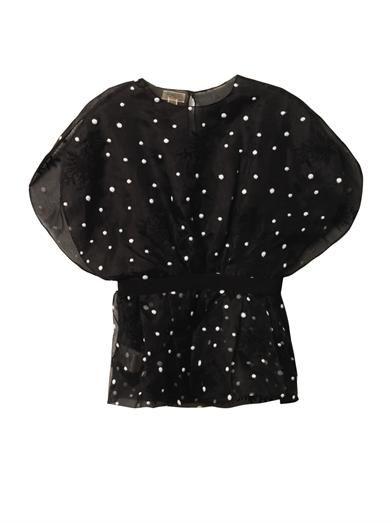 Giambattista Valli Polka-dot organza blouse