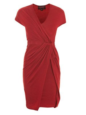 Knitted draped dress