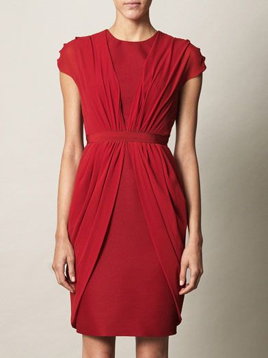 Giambattista Valli Silk drape dress