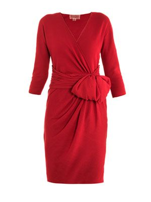 Ruched waist knitted dress