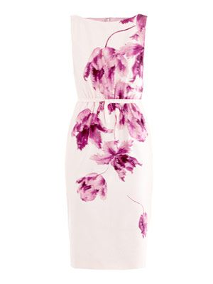 Orchid-print shift dress