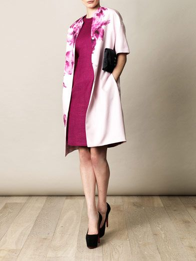 Giambattista Valli Cut-away linen dress