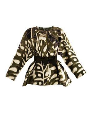 Jungle-print swing jacket
