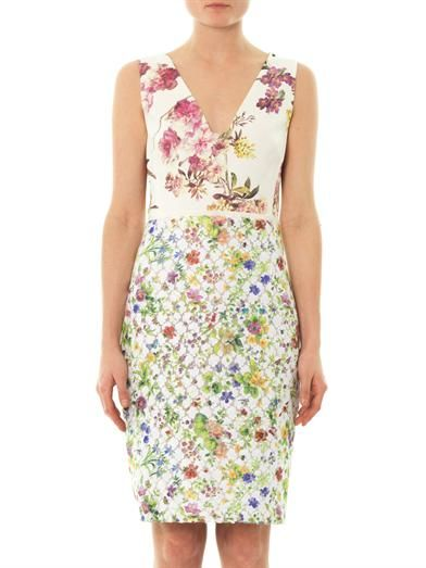Giambattista Valli Floral embroidered and printed dress
