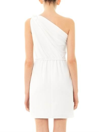 Giambattista Valli One shoulder crepe dress