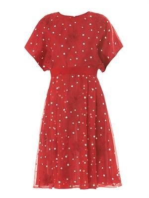 Polka-dot organza dress