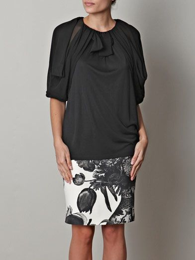 Giambattista Valli Balloon-sleeve top