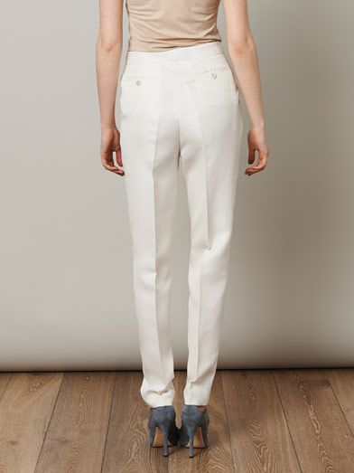 Giambattista Valli Shantung silk tailored trousers
