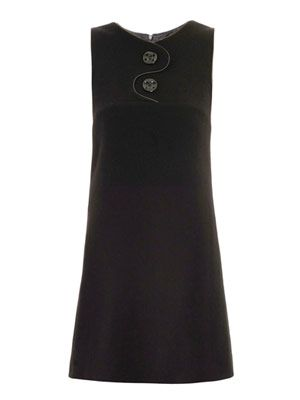 Pia leather-trim dress