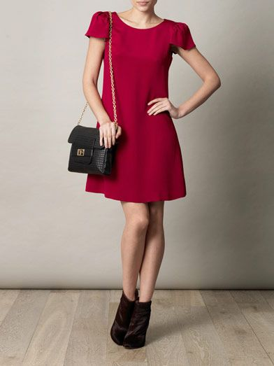 Goat Lori puff-sleeve dress