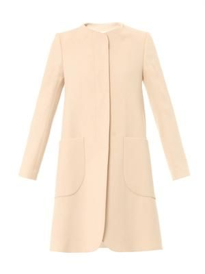 Redgrave wool-crepe coat