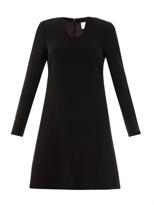 Tia wool-crepe dress