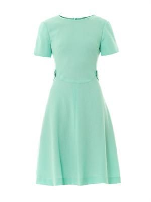 Tai A-line wool-crepe dress