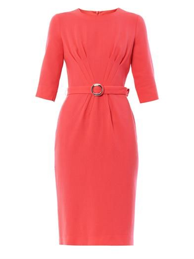 Goat Scarlett pleat-front dress