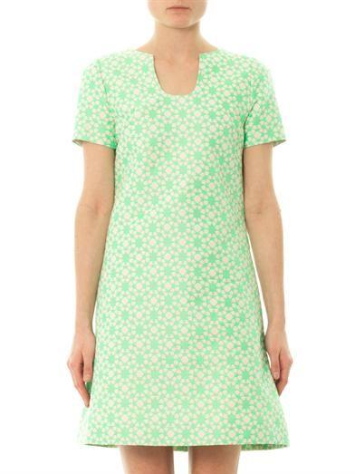 Goat Tia geometric floral-jacquard dress