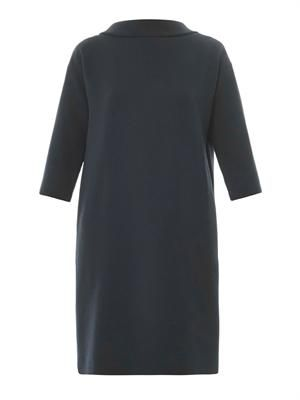 Vogue wool-crepe dress