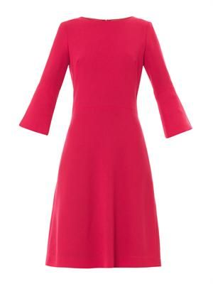 Pandora wool-crepe shift dress