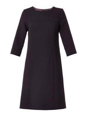 Vanity wool-crepe shift dress
