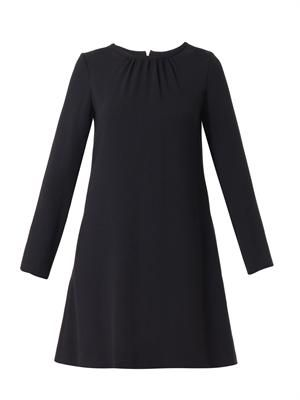 Vanya wool-crepe shift dress