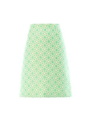 Rodeo Geometric floral A-line skirt