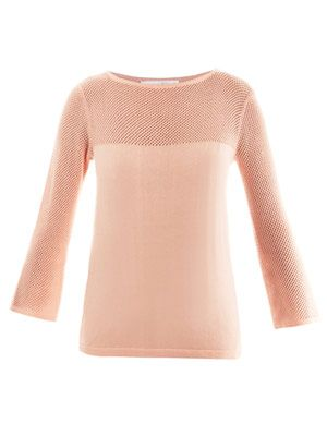 Rachel mesh-knit sweater