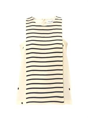 Polka stripe silk top