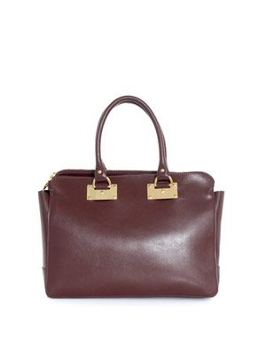Double-zip leather bag
