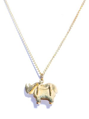 Rhino gold-plated necklace